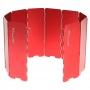 100 Mountain 十片鋁合金擋風板 紅色
