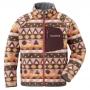 Mont-bell CP100 Print 小童刷毛保暖夾克1106534 粉棕 90 /100 /110cm