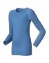 Odlo Shirt L/S Crew WARM 兒童保暖排汗衣 藍色(104-152)