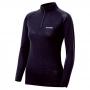 Mont-bell SPMW M.W. H-N Shirt 女款 中厚手 美麗諾羊毛長袖高領拉鍊保暖內搭衣 黑
