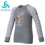 Odlo Shirt L/S Crew WARM 兒童保暖排汗衣 灰(92cm)
