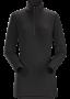 Arc'teryx Phase AR Zip 女款 保暖內層長袖套頭衫 黑