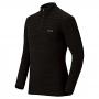 Mont-bell SPMW EXP. H-N Shirt 男款 厚手 美麗諾羊毛長袖高領拉鍊保暖內搭衣 黑