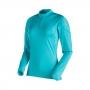 Mammut 長毛象 MTR 141 Thermo LS Zip 女款 拉鍊長袖保暖排汗衣 水相藍