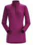 Arc'teryx Phase AR Zip 女款長袖排汗衣 亮錢德拉紫紅