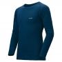 Mont-bell ZEO-LINE EXP. Round Neck Shirt 男款 厚手 長袖圓領保暖內搭衣 靛藍