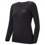 Mont-bell SPMW EXP. R-N Shirt 女款 厚手 美麗諾羊毛長袖圓領保暖內搭衣 黑