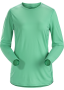 Arc'teryx Phase SL Crew LS 女款 輕薄長袖圓領排汗衣 夜光綠