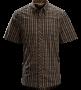 Arc'teryx 始祖鳥 Ridgeline Shirt 男短襯衫-黑啤酒 M L號