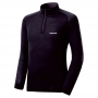 Mont-bell SPMW M.W. H-N Shirt 男款 中厚手 美麗諾羊毛長袖高領拉鍊保暖內搭衣 黑