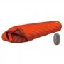 Mont-bell DOWN HUGGER 800FP #1 -9℃ 超彈性斜紋輕量鵝絨睡袋 橘 重約918g。1121358