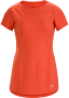 Arcteryx Taema 女款 短袖圓領排汗衣 珊瑚紅 (2019新款)