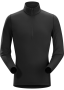 Arc'teryx Phase AR Zip 男款 保暖內層長袖套頭衫 黑