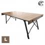 ADISI 木紋兩段式鋁捲桌 AS21028-L 二段可調高度