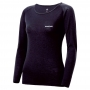 Mont-bell SPMW M.W. R-N Shirt 女款 中厚手 美麗諾羊毛長袖圓領保暖內搭衣 黑
