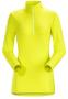 Arc'teryx Phase AR Zip 女款長袖排汗衣 愉悅綠