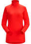 Arc'teryx Rho LT Zip Neck 女款 刷毛內層長袖套頭衫 珊瑚紅(2018新品)