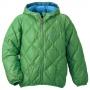 Mont-bell Reversible Down 小童羽絨連帽雙面穿夾克草綠