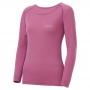 Mont-bell SPMW M.W. R-N Shirt 女款 中厚手 美麗諾羊毛長袖圓領保暖內搭衣 淺紫紅
