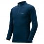 Mont-bell ZEO-LINE EXP. Round Neck Shirt 男款 厚手 長袖拉鍊高領保暖內搭衣 靛藍