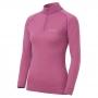 Mont-bell SPMW M.W. H-N Shirt 女款 中厚手 美麗諾羊毛長袖高領拉鍊保暖內搭衣 淺紫紅