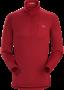 Arc'teryx Rho AR Top Zip 男款 刷毛內層拉鍊高領套頭衫 海灘紅