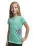 Icebreaker 太陽花圓領短袖羊毛排汗衣 兒童款 青銅綠