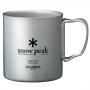 Snow Peak 鈦金屬雙層杯-600ml 折疊把 MG-054R