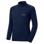 Mont-bell SPMW M.W. H-N Shirt 男款 中厚手 美麗諾羊毛長袖高領拉鍊保暖內搭衣 深藍