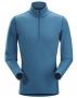Arc'teryx Phase AR Zip 男款長袖排汗衣 藍色軍團 L,XL
