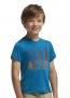 Icebreaker 夏令營圓領短袖羊毛排汗衣 兒童款 石油藍