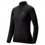 Mont-bell SPMW EXP. H-N Shirt 女款 厚手 美麗諾羊毛長袖高領拉鍊保暖內搭衣 黑