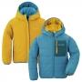 Mont-bell Thermawrap 小童連帽兩面穿化纖外套 1101525 雀藍/米黃