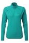 英國RAB Pulse LS Zip 透氣長袖拉鍊排汗衣 女款 海玻璃(寧靜藍)
