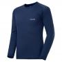 Mont-bell SPMW M.W. R-N Shirt 男款 中厚手 美麗諾羊毛長袖圓領保暖內搭衣 深藍